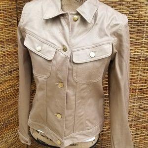 Lauren Jean's golden Jean jacket M